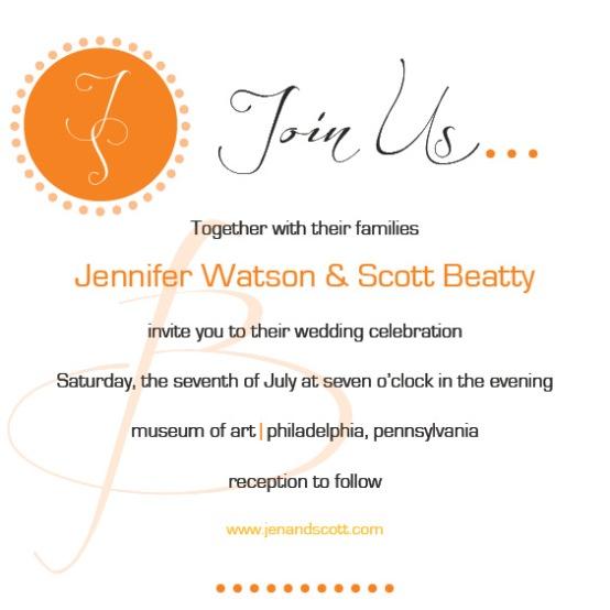 Image of a Wedding Invitation