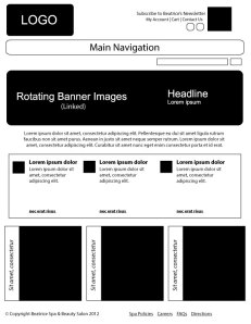 Image of a Home Page Wireframe