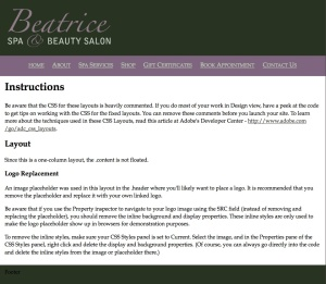 Beauty Salon Test Site